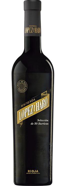 botella Hacienda López de Haro 30 barricas