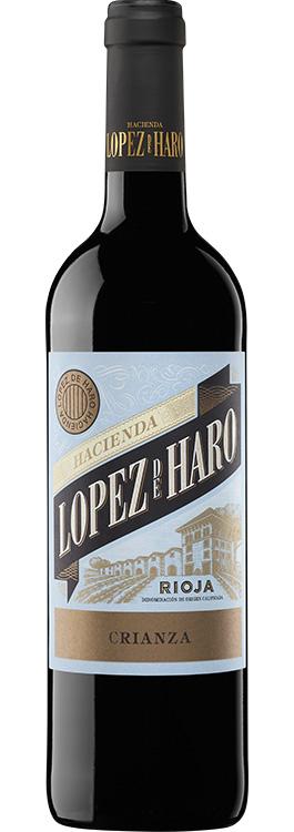 botella Hacienda López de Haro crianza