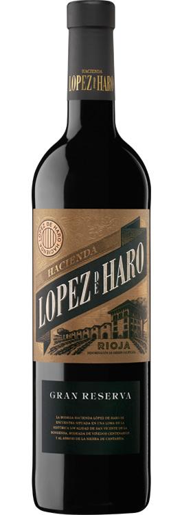 botella Hacienda López de Haro gran reserva
