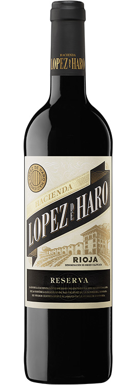 botella Hacienda López de Haro reserva