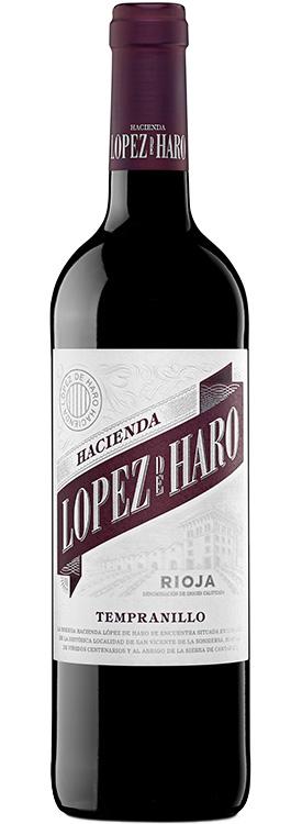 botella Hacienda López de Haro tempranillo
