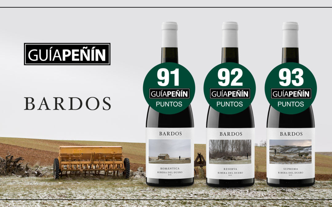 La Guía Peñín califica de «excelentes» tres vinos tintos de Bodegas Bardos