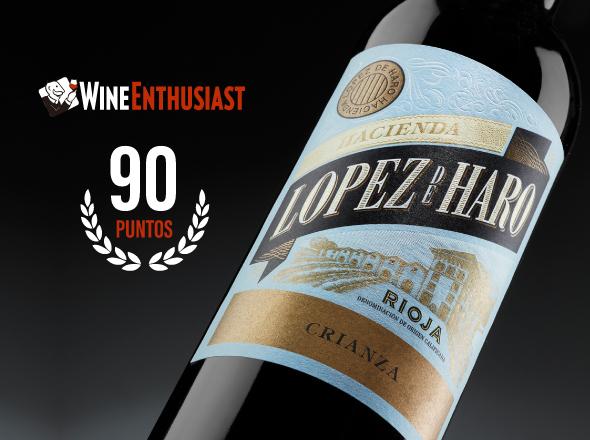 López de Haro Crianza, en la lista de favoritos de la prestigiosa revista americana Wine Enthusiast