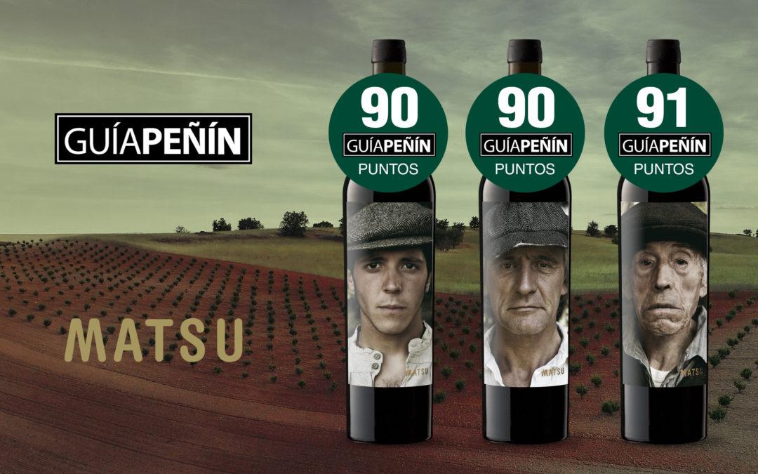 Los tres vinos de Bodega Matsu superan los 90 puntos Peñín