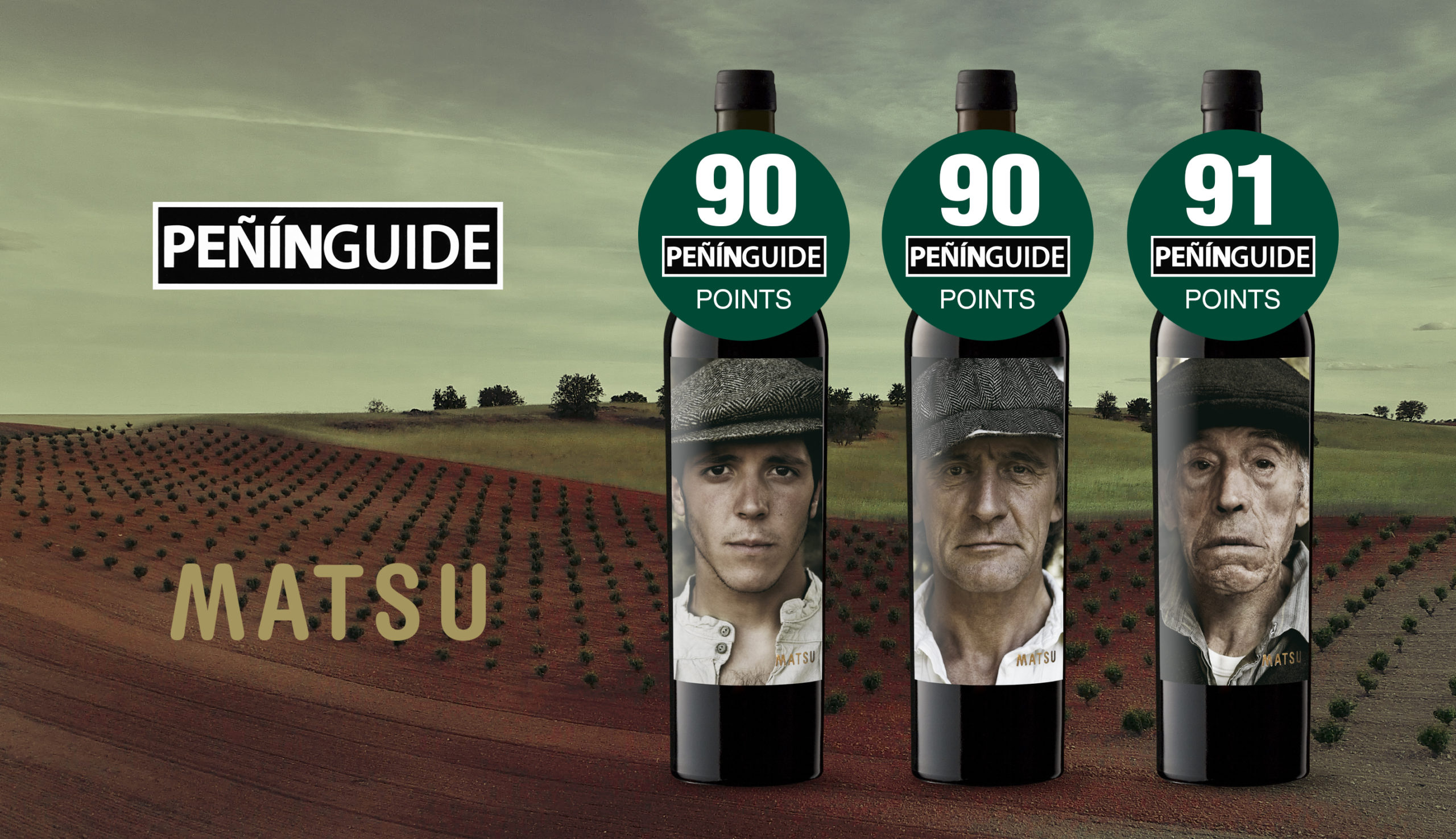 The three wines from Bodega Matsu achieve 90 or more points in the Peñín Guide