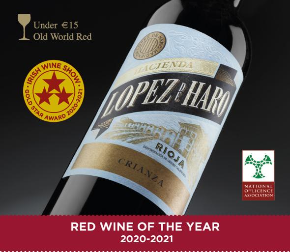 Hacienda López de Haro Crianza 2017 es el vino del año en Irlanda
